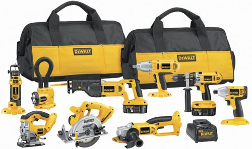 Dewalt knows about integrated suites of power tools