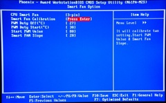 BIOS settings for smart fan. Click to see the actual values.