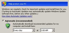 Configuring Automatic Updates.