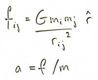 Newton's equations.