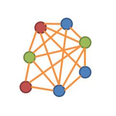 A symmetrically distributed team.