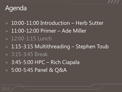 Preliminary workshop agenda