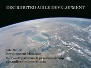 Distributed Agile Development at Microsoft patterns & practices