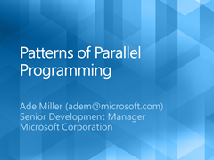 Patterns of Parallel Programming deck