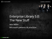 Enterprise Library 5.0: The New Stuff