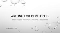 Writing For Developers